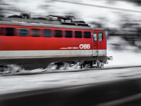 Timelapse Photography of Red Train