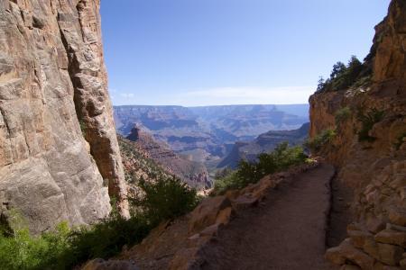 Track through canyon