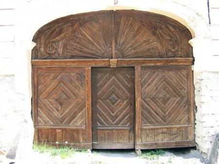 Traditional door from Romania