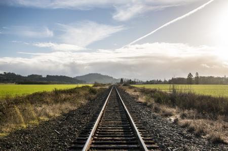 Train Tracks, Winter, Willamette Valley, Oregon
