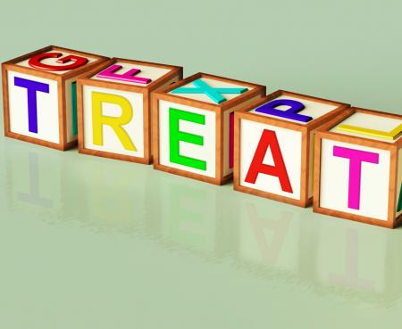 Treat Blocks Mean Special Occurrence Or Gift