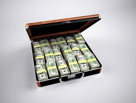 U.s. Dollar Bill on Brown Steel Case