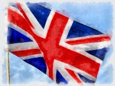 UK Flag Painting