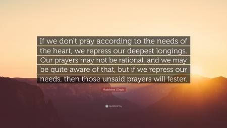 Unsaid prayers