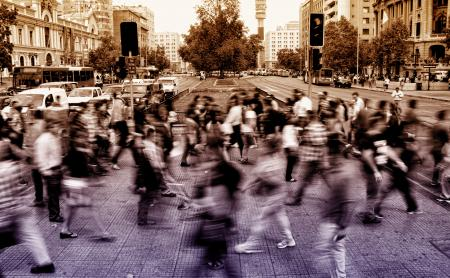 Urban Scene - People Crossing Avenue - Blurry Looks