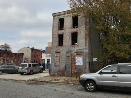 Vacant buildings, 1214-1228 Hollins Street, Baltimore, MD 21223