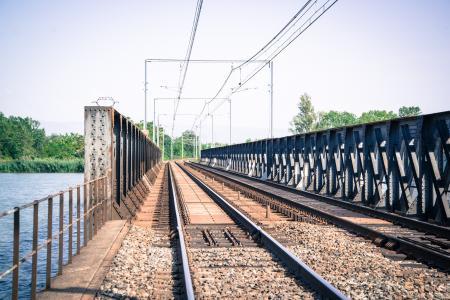 Vacant Train Track Bridge