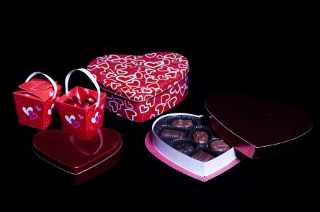 Valentines day gift and chocolates