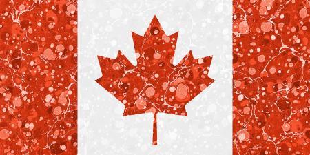Vintage Marbled Flag of Canada