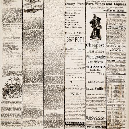 Vintage Newspaper Print