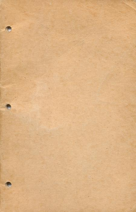 Vintage Perforated Notebook Cover - Beig