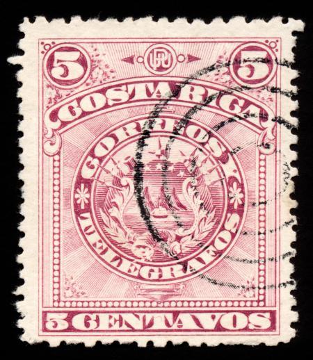 Violet Coat of Arms Stamp