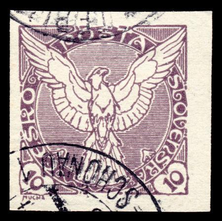 Violet Falcon Stamp