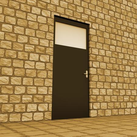 Vision Door Indicates Aspirations Plan And Aim