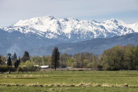 Wallowa Mountains, from Halfway, Oregon