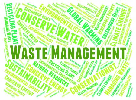 Waste Management Means Get Rid And Disposal