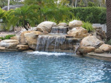 Waterfall on stone