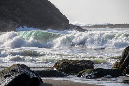 Waves at Fogarty Beach, Oregon