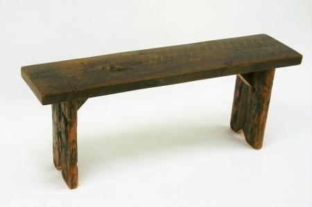 Weathered bench planks