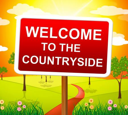 Welcome Countryside Means Nature Hello And Meadows