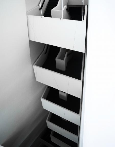 White Concrete Staircase