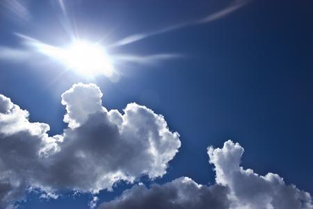 White Cumulus Clouds