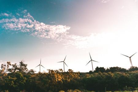 Windmill Near Green Trees