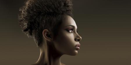 Woman's Black Hair