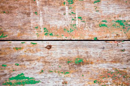 wooden planks with old green paint