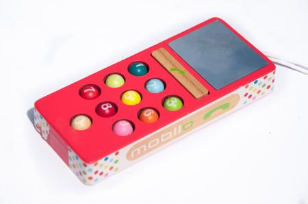wooden toy mobile phone