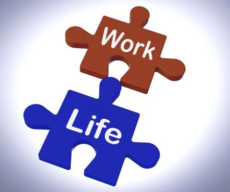 Work Life Puzzle Shows Balancing Job And Relaxation