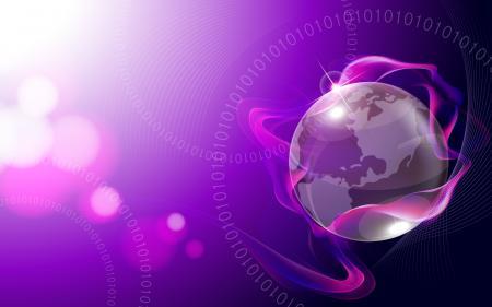 World in purple