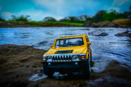 Yellow And Black Hummer Miniature