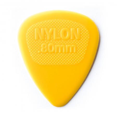 Yellow guitar pick