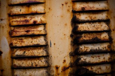 Yellow Rusted Metal Background