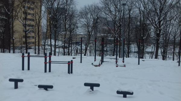 Спортивная площадка в посёлке Коммунарка