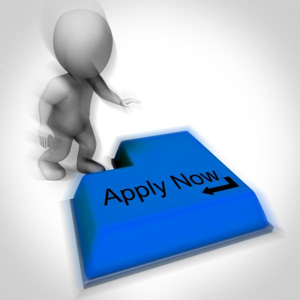 Apply Now Keyboard Means Job Vacancy And Recruitment