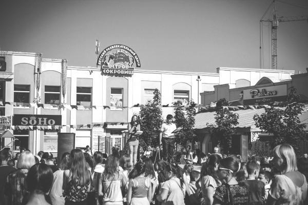Black and White Photo of Soho Crowd
