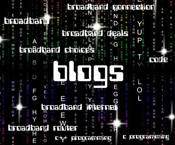 Blogs Word Indicates Online Websites And Blogger