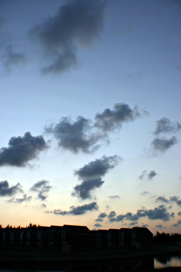 Blue evening sky