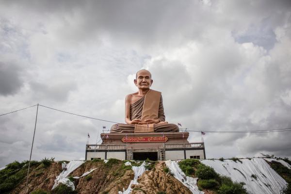 Brown Concrete Buddha Building