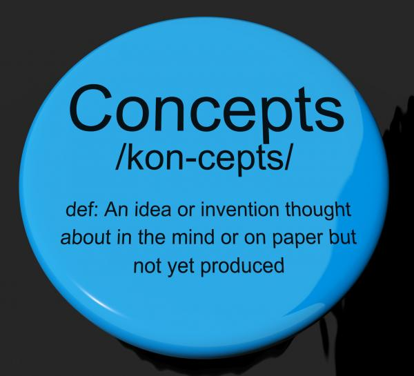 Concepts Definition Button Showing Ideas Thoughts Or Invention