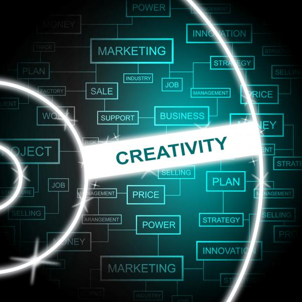 Creativity Word Shows Creative Vision And Imagination