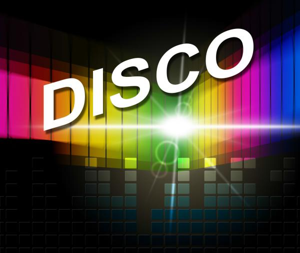 Disco Music Represents Sound Track And Acoustic