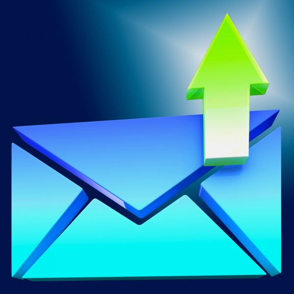 Envelope Symbol Shows Emailing Or Contacting