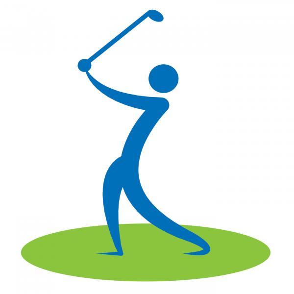 Golf Swing Man Indicates Game Human And Player