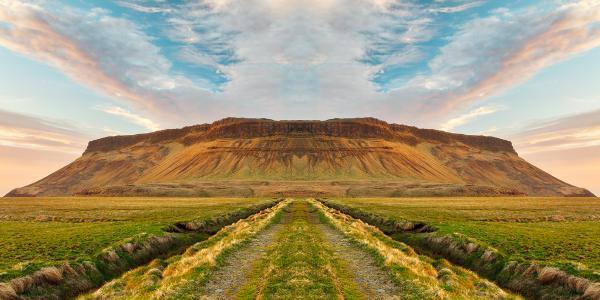 Iceland Sunset Symmetry Trail