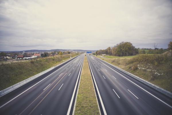 Motorway highway A9 Munich - Berlin / Exit Bayreuth