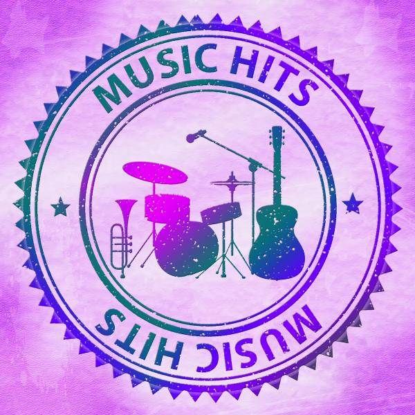 Music Hits Indicates Sound Track And Audio