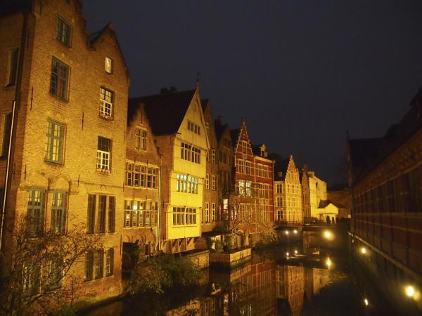 Night Canal in Ghent, Belgium